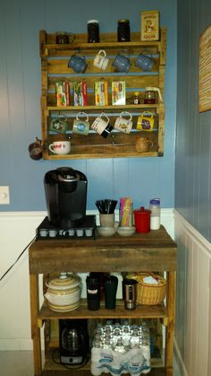 Diy Pallet Coffee Bar Yls Room Ideas Bar Made From