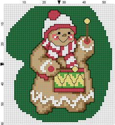 Gingerbread Drummer Mitten by Stitchluv on Etsy