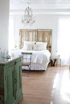 Need to find some salvaged doors like this for our bedroom remodel - maybe in NH or VT