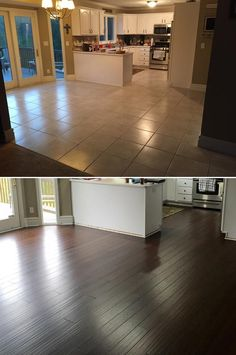 """""""Replaced tile and old laminate flooring on the entire first floor of our home."""" - Mike, MI"""