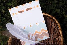 pow wow party : free printable invitation