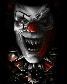 dominque simard and shigeru onda sont des créatures diaboliques Gruseliger Clown, Clown Faces, Spawn Clown, Freaky Clowns, Evil Clowns, Dark Fantasy Art, Evil Clown Tattoos, Joker Kunst, Evil Jester