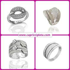 Anillos de plata 925m. Los puedes encontrar en www.capricciplata.com y en  http://www.facebook.com/capricci.plata1  #anillos #plata #joyas #silver #shopping #moda #fashion #blackfriday