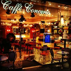 Grab a delightful cake and coffee at the local Cafe Concerto on Kensington High Street