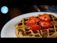 tiu protein waffles  1/2 banana  3 egg whites  1/2 tbsp almond milk  1 serving protein powder  1 tsp cinnamon  mix all ingr. pour batter into waffle iron, cook 3-5 min til med brown. serve w fresh fruit, maple syrup or stevia