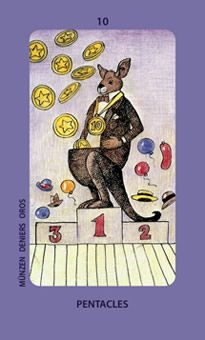 October 9 Tarot Card: Ten of Pentacles (Jolanda deck) Energies of wealth, health, closeness, and success are overflowing ~ anything can be yours now
