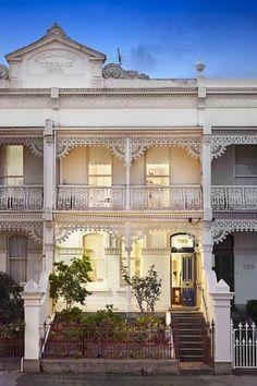 793 Drummond Street CARLTON NORTH- build/own the whole terrace? Melbourne Architecture, Australian Architecture, Australian Homes, Residential Architecture, Modern Victorian, Victorian Terrace, Victorian Homes, Victorian Era, Victorian Architecture