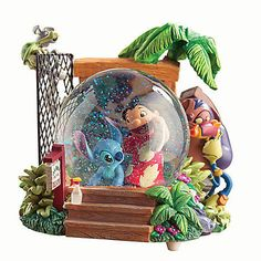 Lilo and Stitch Description: Characters: Lilo, Stitch Features: Music: Aloha Oe Size: H Snow: Source: Timeframe: ORP: Frozen Disney, Disney Cars, Disney Rooms, Cute Disney, Disney Magic, Disney Stuff, Lilo Stitch, Cute Stitch, Disney Stitch