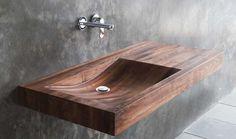 Was wäre aber, wenn man auf den komischen Gedanken käme, dass man ein Holzwaschbecken in seinem Badezimmer haben möchte? Als natürliches und relativ....