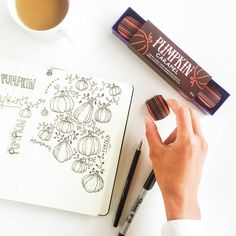 Cold fall Sundays means spending the day colouring—with pumpkin caramels of course!