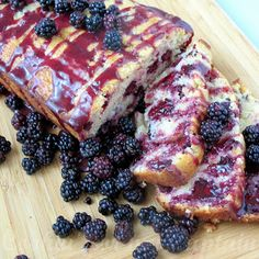 Cookin' for my Captain: Wild Blackberry Bread- easy to veganize this