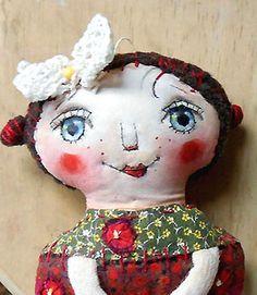 Muñeco original de arte artesanía hecha a mano muñeca por miliaart, $29.00