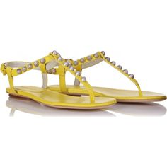 cute yellow sandals by Balenciaga