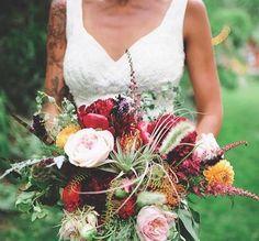 Real bride wearing a custom Claire Pettibone 'Madeleine' wedding dress