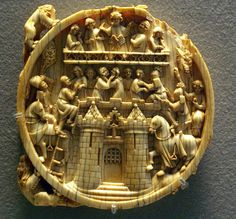 Ivory mirror back, 14th century, the Louvre.