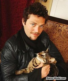 Margera with cat.