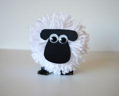 How to make pom pom sheep - Shaun the Sheep/Timmy