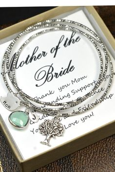 Wedding Mother In Law Gift,Thank You For Raising The Man Of My Dreams,bridal jewelry,mint green bracelet,monogram gifts, Bride Mother,bangle