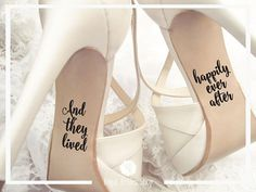 Wedding Shoes Decals And They Lived Happily Ever After