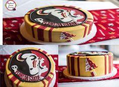 University Dorms, Florida State University, Florida State Seminoles, University Logo, Cupcake Cakes, Cupcakes, Cake Designs, Cake Decorating, Sweets