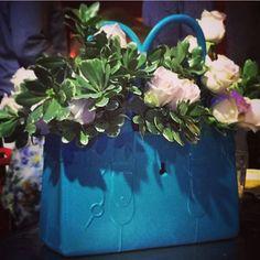 Fleur Du Jour #GreatBagLife // This is #GreatBagCo #ModelM #Aquamarine #blue #fantastic #flower #fashion // a @robertverdi project // #GreatBag // #Swing one today! http://greatbag.co/