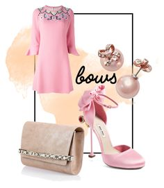 """""""blushing"""" by supergoddess on Polyvore featuring Miu Miu, Peter Pilotto, Kate Spade, Jimmy Choo and bows"""