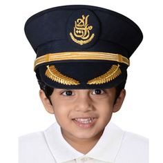 Children can play at being captain in their own authentic Emirates pilot hat.
