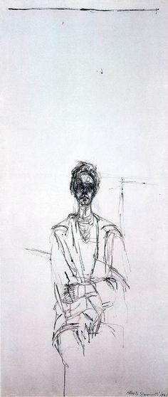 Carolina sobre fondo Blanco, 1961. - Alberto Gacometti