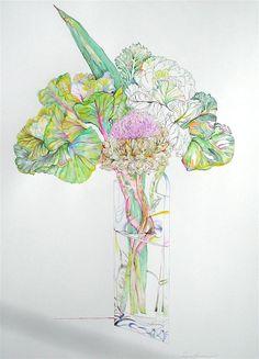 Lynn larson Art - Spring series Sunflower