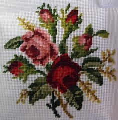 Hand made Preworked Needlepoint Canvases Cross Stitch Art, Cross Stitch Flowers, Cross Stitch Patterns, Hardanger Embroidery, Embroidery Patterns, Hand Embroidery, Needlepoint Designs, Needlepoint Canvases, Boat Crafts
