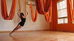 amazing anti-gravity yoga dance - can't even do the splits now, wonder what chance i have of being able to do this when i'm 50?!