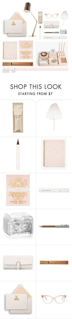 """Desk Set"" by hellodollface ❤ liked on Polyvore featuring interior, interiors, interior design, home, home decor, interior decorating, Maison Margiela, Paul & Joe, Sugar Paper and RIFLE"