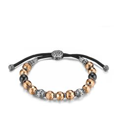 Classic Chain Bead Bracelet in Silver and Bronze. #JHGifts