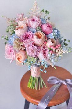 38 Ideas For Flowers Wedding Bouquet Pastel Floral Arrangements Bridal Bouquet Blue, Peony Bouquet Wedding, Pink Bouquet, Bridal Flowers, Blue Bridal, Bouquet Flowers, Pastel Flowers, Rainbow Bouquet, Flowers Uk