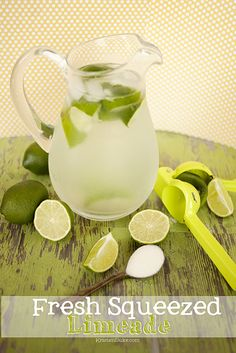 Fresh Squeezed Limeade #summer #lime #lemonade www.KristenDuke.com