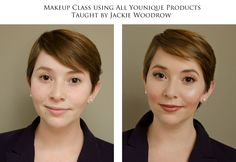 Natural daytime look using all Younique products.  Click picture to contact me with specific questions or to order.  Class hosted by Youniquely Crissy Terrio with Makeup Artist Jackie Woodrow teaching.