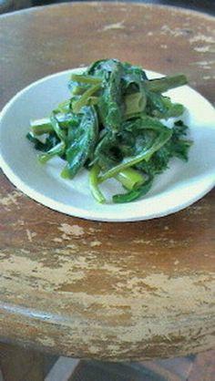 青菜のオイル蒸し