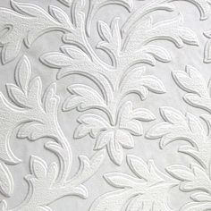 Brewster Home Fashions Anaglypta Paintable x High Leaf Scroll Embossed Wallpaper Vinyl Wallpaper, Anaglypta Wallpaper, Embossed Wallpaper, Wallpaper Panels, Textured Wallpaper, Wallpaper Roll, Cool Wallpaper, Wallpaper Designs, Wallpaper Paste