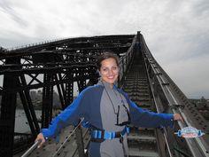 Kate on the Sydney Bridgeclimb