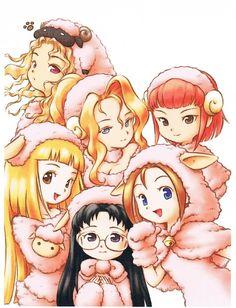 Harvest Moon Sunshine Islands girls dressed as sheep!  So friggin' cute!