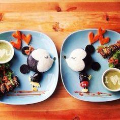 Kawaii Mickey & Minnie Mouse Food
