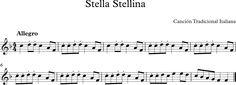 Stella, Stellina. Canción Tradicional Italiana