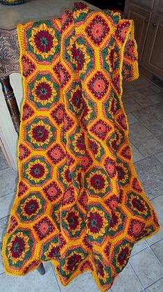 Ravelry: Spanish Tiles pattern by Tammy Hildebrand Free Mandala Crochet Patterns, Crochet Ideas, Spanish Tile, Signature Design, Crochet Fashion, Tile Patterns, Color Schemes, Knit Crochet, Arts And Crafts