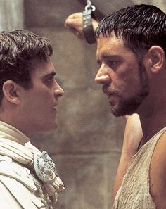 """Joaquin Phoenix and Russell Crowe in """"Gladiator"""" Russell Crowe - Best Actor Oscar 2000 Gladiator 2000, Gladiator Movie, Gladiator Maximus, Academy Awards Best Picture, Best Picture Winners, Ridley Scott, Jennifer Connelly, Universal Pictures, Kaiser"""