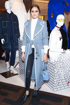 Olivia Palermo Style pening of House of Peroni October 2018 Estilo Olivia Palermo, Olivia Palermo Outfit, Olivia Palermo Lookbook, Olivia Palermo Style, Olivia Palermo Makeup, Mode Chic, Mode Style, Mantel Styling, Outfits Tipps
