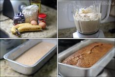 Bolo de Banana sem Farinha e sem Açúcar Banana Bread without Flour or Sugar Low Carb Recipes, Snack Recipes, Cooking Recipes, Snacks, I Love Food, Good Food, Yummy Food, Homemade Cakes, Light Recipes