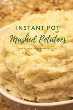 A new favorite way to fix a family favorite....Instant Pot Mashed Potatoes are a must make!! . #mashedpotatoes #potatoes #instantpot #sparklesnsprouts #recipe