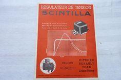 Régulateur de Tension SCINTILLA -Citroën-Renault-Ford-1938 in Collections, Objets publicitaires, Publicités papier, Autos, tracteurs   eBay