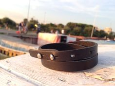 Multi wrap unisex black leather bracelet / black by VavienStore, $23.00