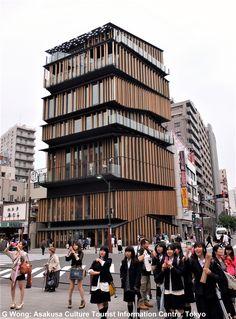 Asakusa Culture Tourist Information Centre (modern) by Kengo Kuma, Tokyo
